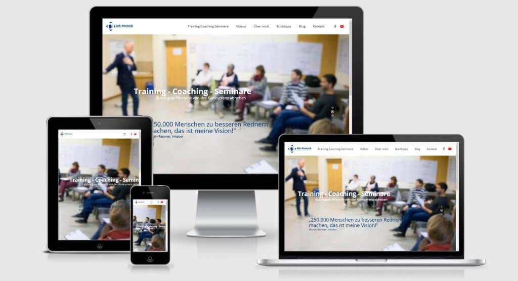 responsives webdesign für rhetoriktrainer